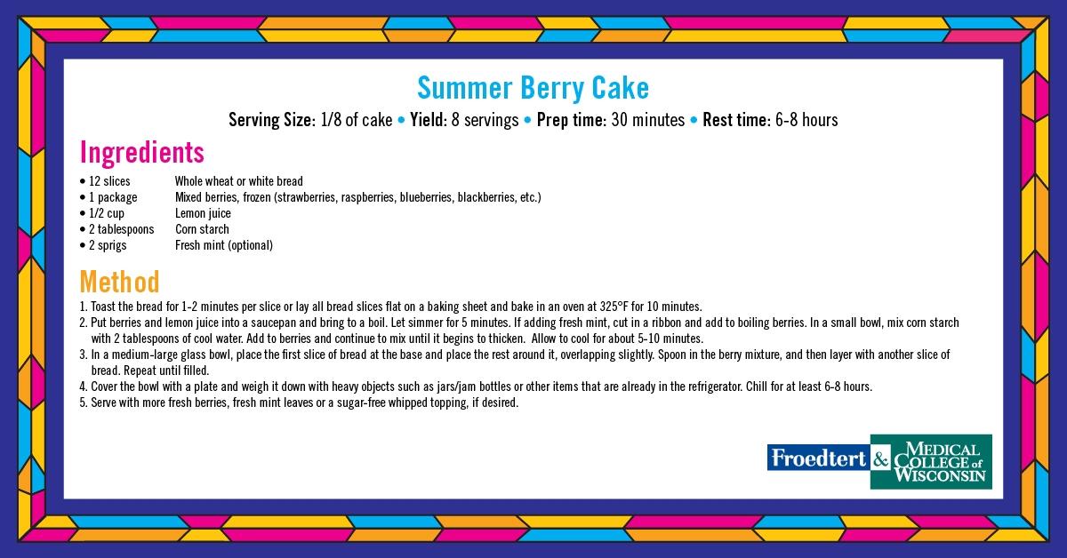 Summer Berry Cake Reipce